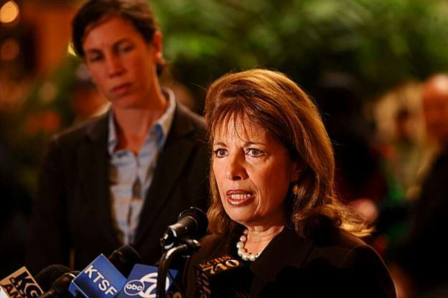 Rep. Jackie Speier, D-Calif., discusses the Children's Toxic Metals Act during a news conference on Friday, Jan. 15, 2010, in Daly City, Calif. The bill would ban cadmium and two other potentially toxic metals from kid's jewelry. Photo: Noah Berger, AP