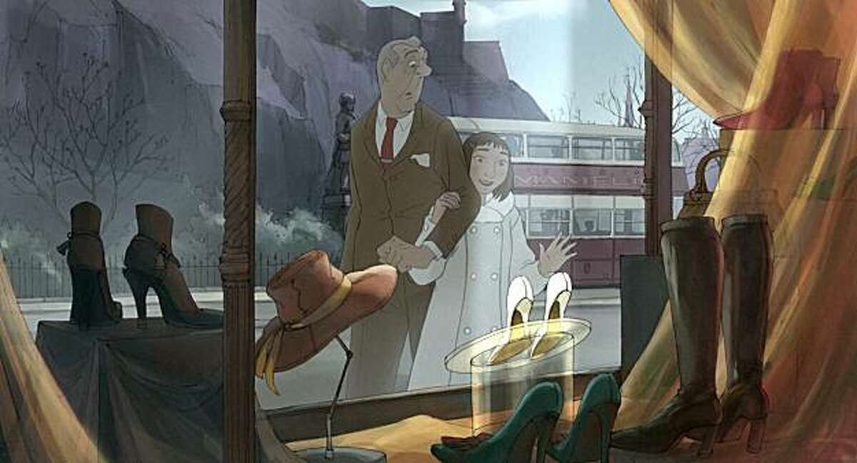 Left to Right: The Illusionist and Alice in The Illusionist, directed by Sylvain Chomet