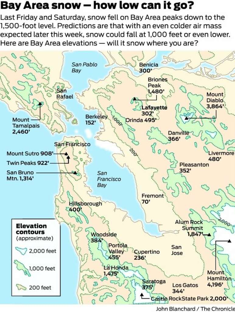 Snow at sea level It could happen this weekend SFGate