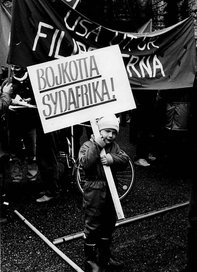 "Boycott South Africa, Stockholm, Sweden 1985 ""Have You Heard from Johannesburg,""  from Independent Lens will be seen on PBS. Photo: Ann AndrŽn, Nordic Africa Institute"