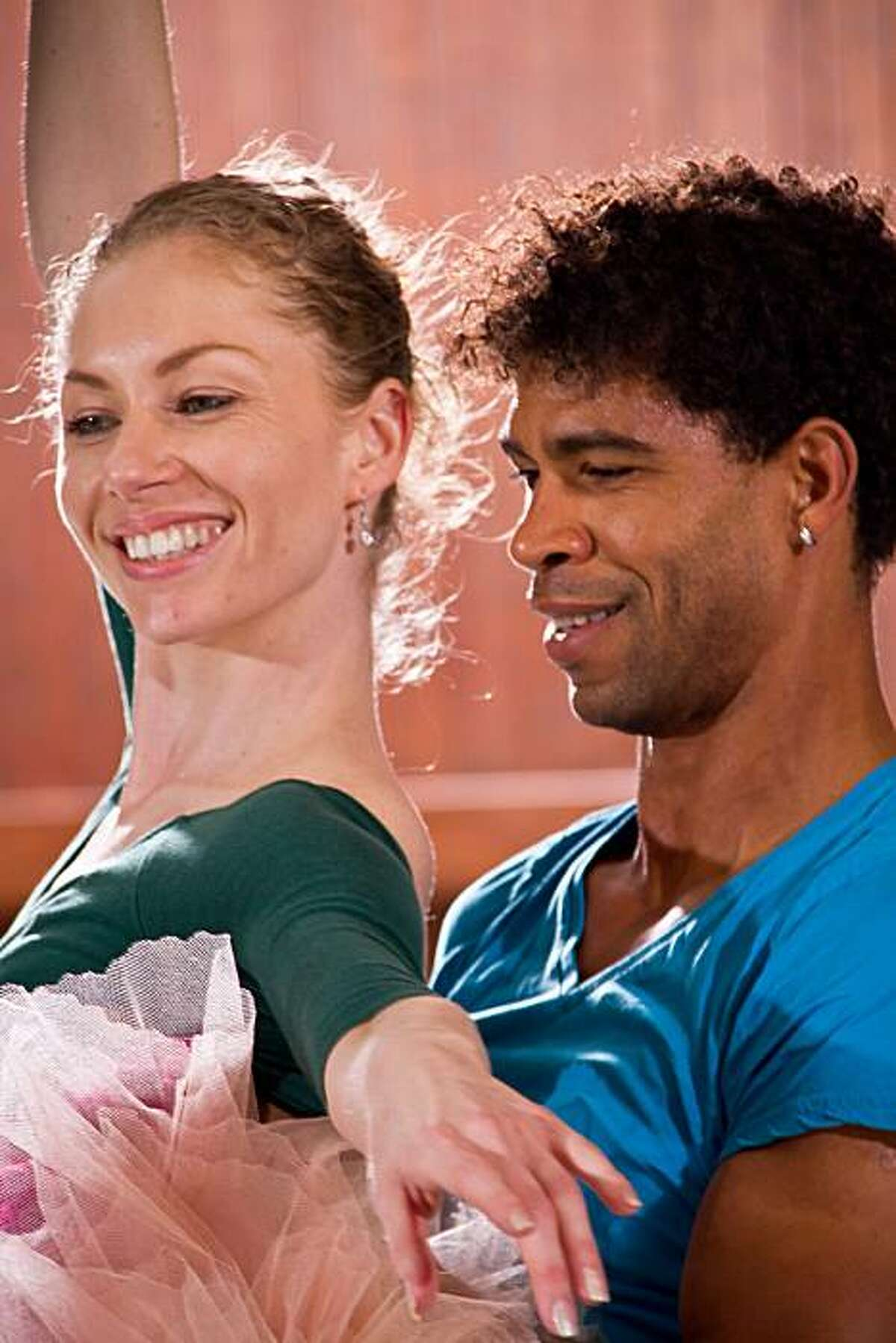 Carlos Acosta and Alexsandra Meijer in rehearsal for SWAN LAKE at Ballet San Jose. Carlos Acosta s dancing Prince Seigfried and Alexsandra is dancing Odette/Odile. All photos are by John Gerbetz . . All photos are by John Gerbetz