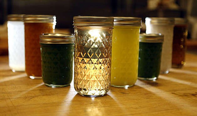 Eight different juices and soups are used in Teresa Piro Can Can Cleanse Company daily program. Tuesday; Feb. 1, 2011. Photo: Lance Iversen, The Chronicle