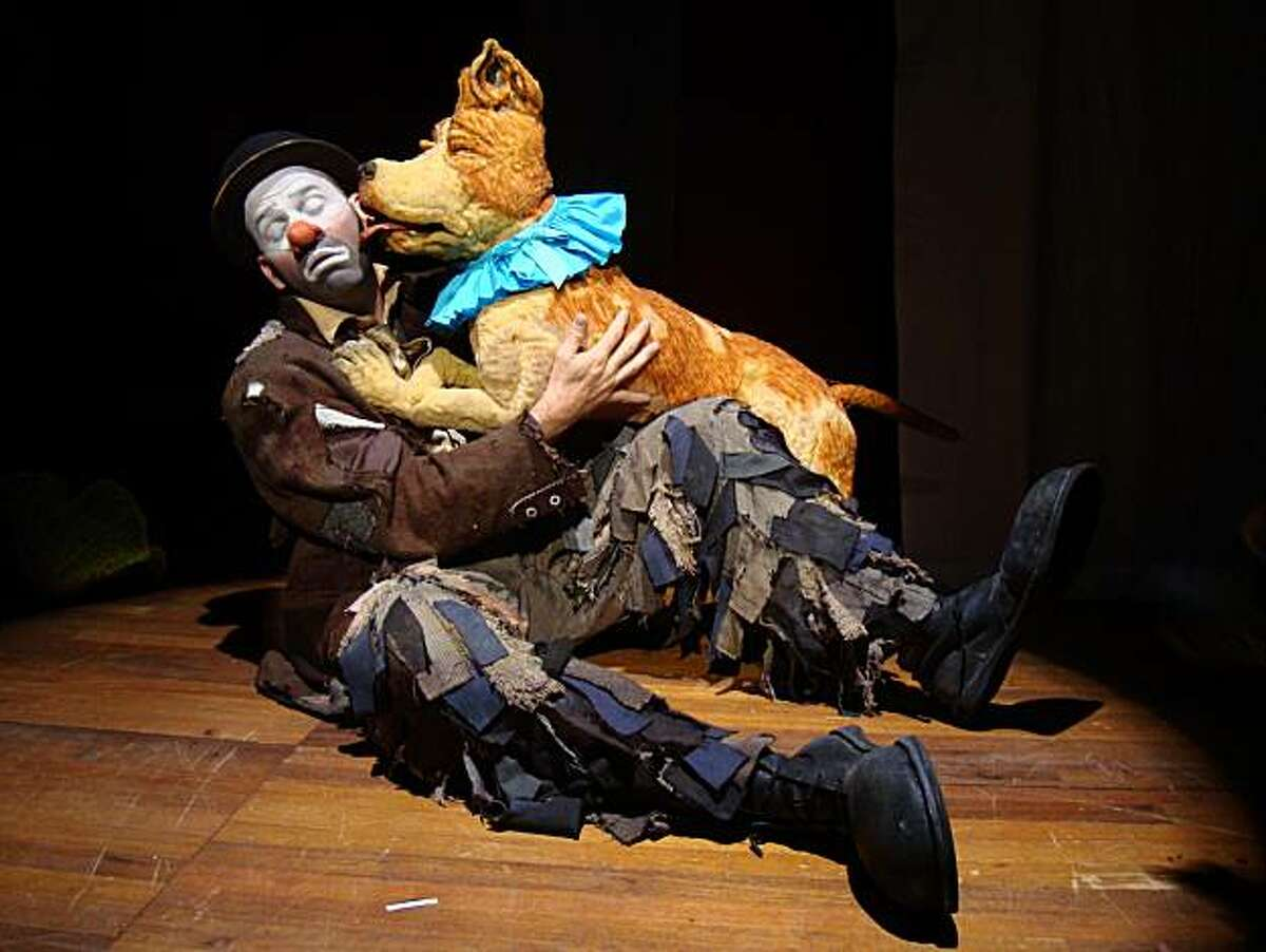 Kevin Augustine, with (puppet) friend, in his