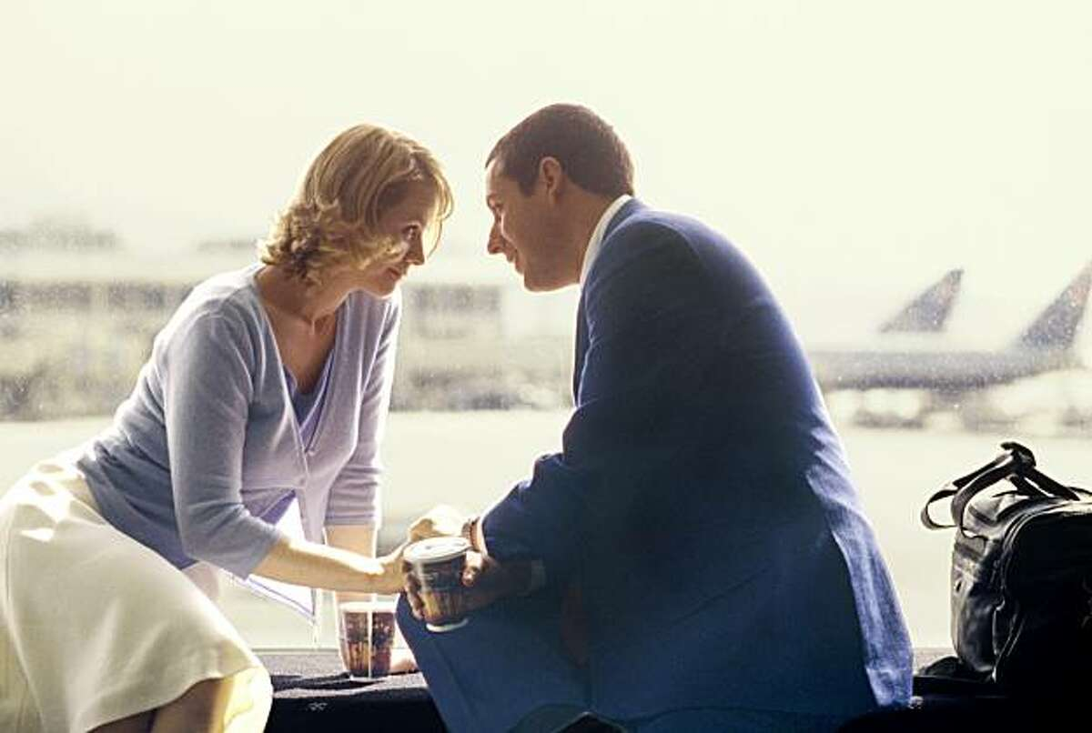 Adam Sandler stars as Barry Egan and Emily Watson stars as Lena Leonard in the Revolution Studios/New Line Cinema presentation of Punch-Drunk Love, distributed by Columbia Pictures.