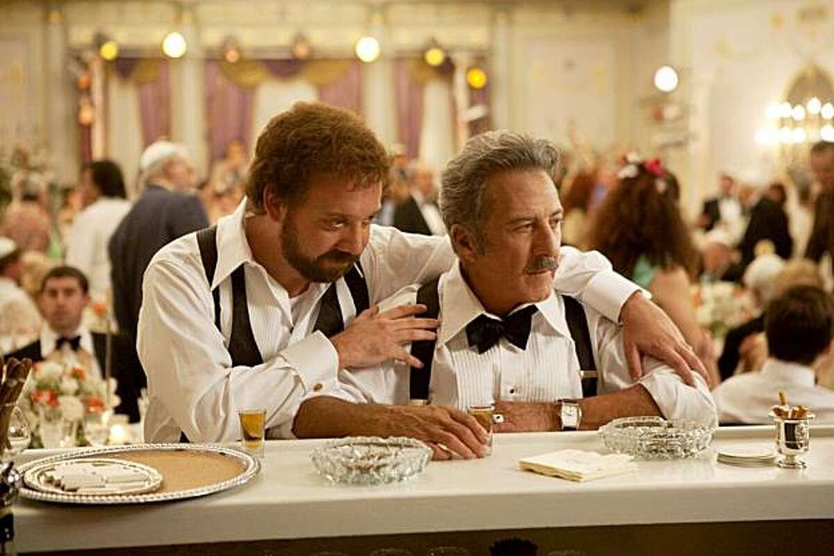 Paul Giamatti and Dustin Hoffman in