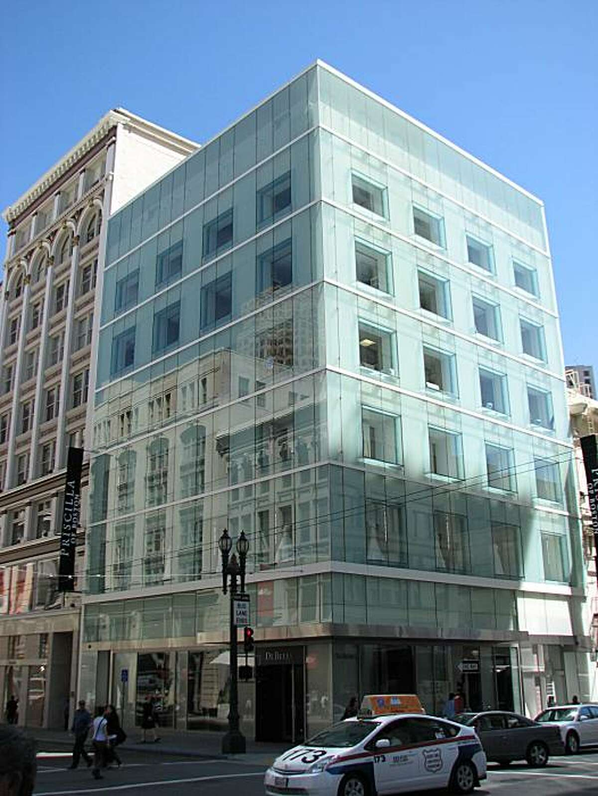 At 185 Post, the restoration of a 1908 masonry building beneath new outer walls of glass has added a contemporary twist to the architecture of the Union Square area.