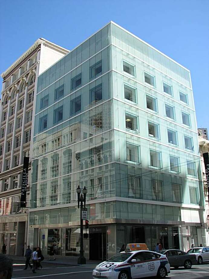 At 185 Post, the restoration of a 1908 masonry building beneath new outer walls of glass has added a contemporary twist to the architecture of the Union Square area. Photo: John King