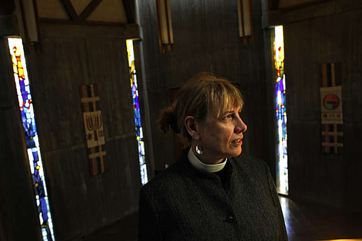 First United Lutheran Church of San Francisco pastor Rev. Susan Strouse is seen in the sanctuary of the First Unitarian Church, where her congregation gathers for their Sunday services, on Friday, February 12, 2011 in San Francisco, Calif.