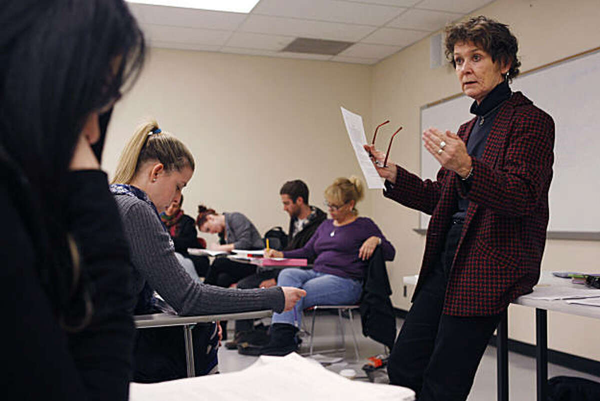 Sheila R. Tully lectures to her medical anthropology class at San Francisco State University in San Francisco Calif. on Tuesday, Feb. 15 2011.
