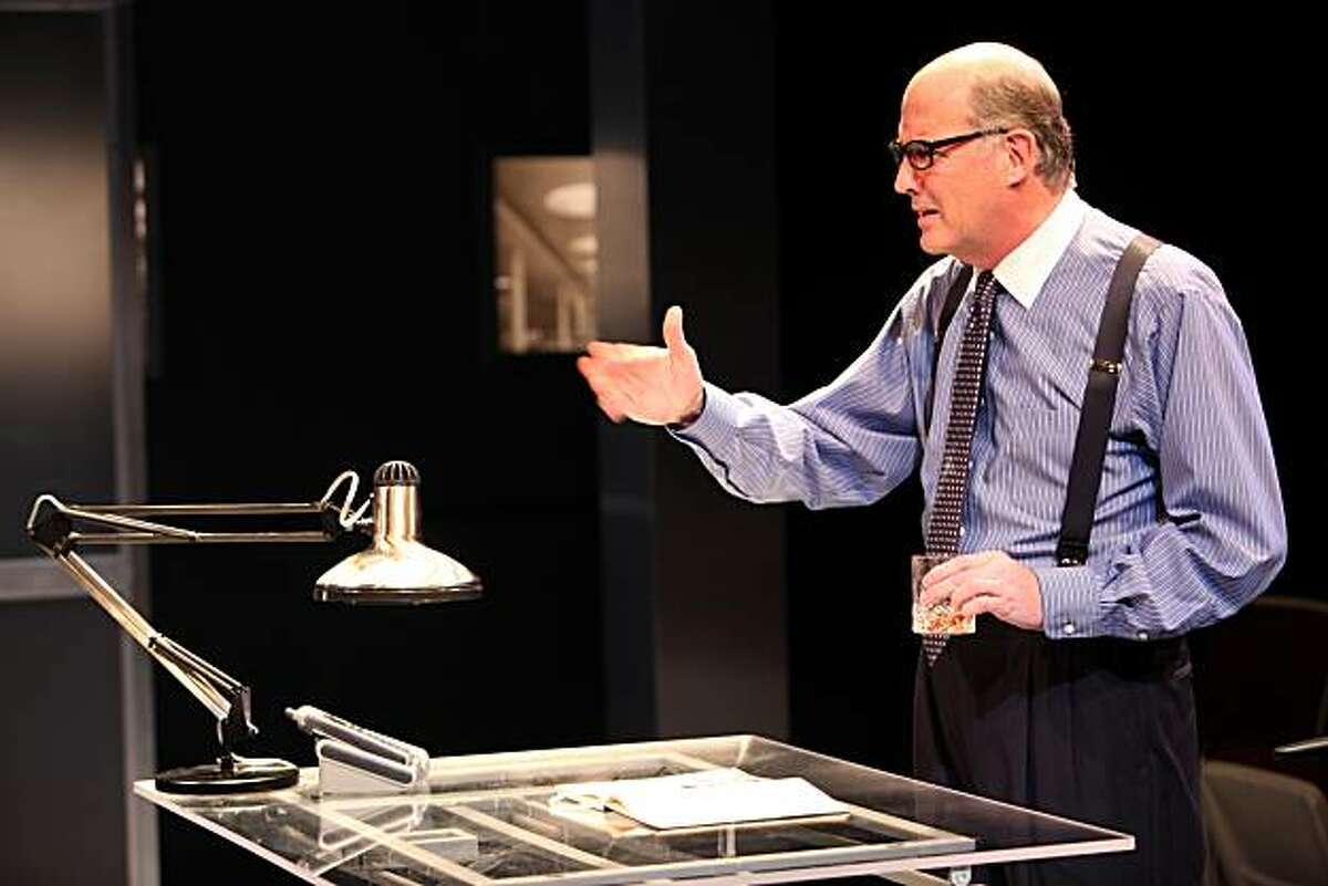 Stu (Warren David Keith) objects to Eliza breaking the rules at the architectural firm in the Magic Theatre world premiere of Theresa Rebeck's