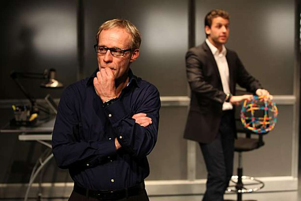 Ben (Rod Gnapp) and Weber (James Wagner) talk about problems at the architectural firm in the Magic Theatre world premiere of Theresa Rebeck's