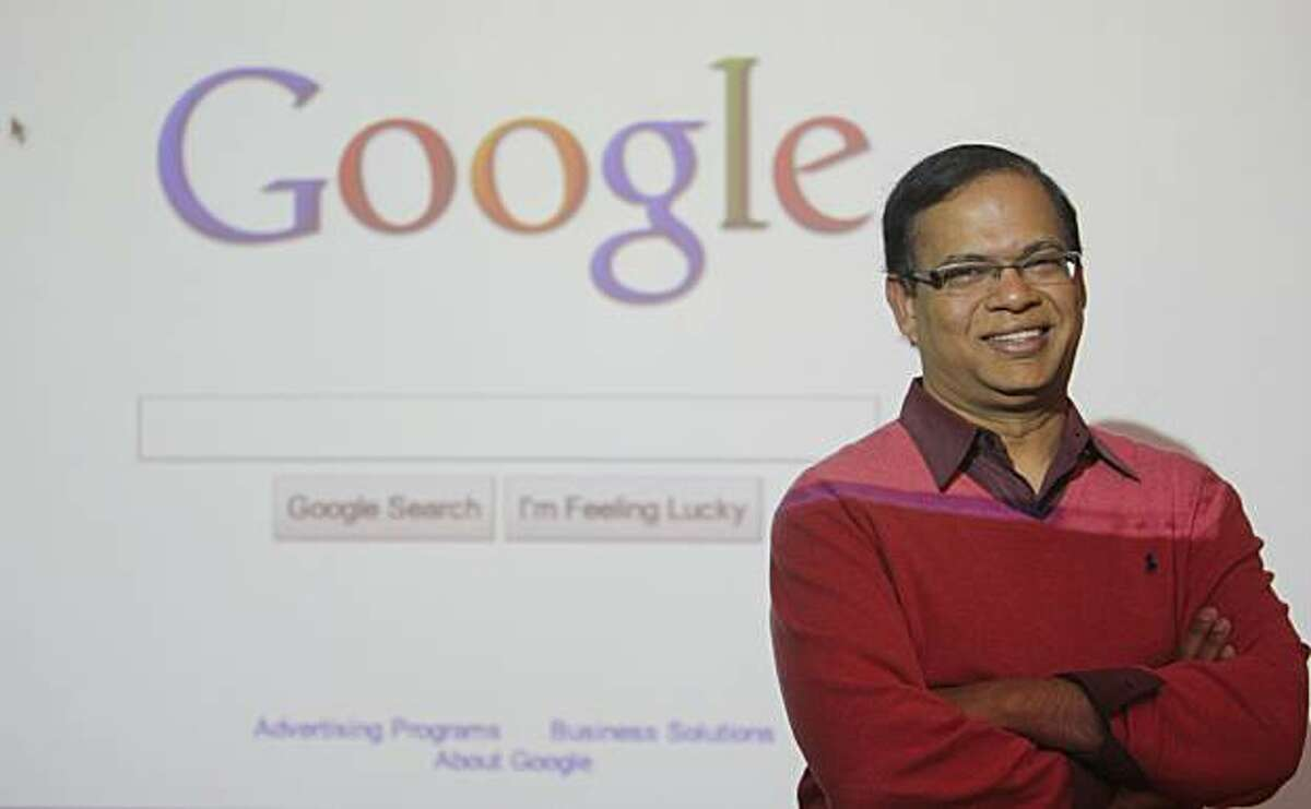 Amit Singhal poses for a photo on the Google campus in Mountain View Calif. on Wednesday, Feb. 9, 2011.