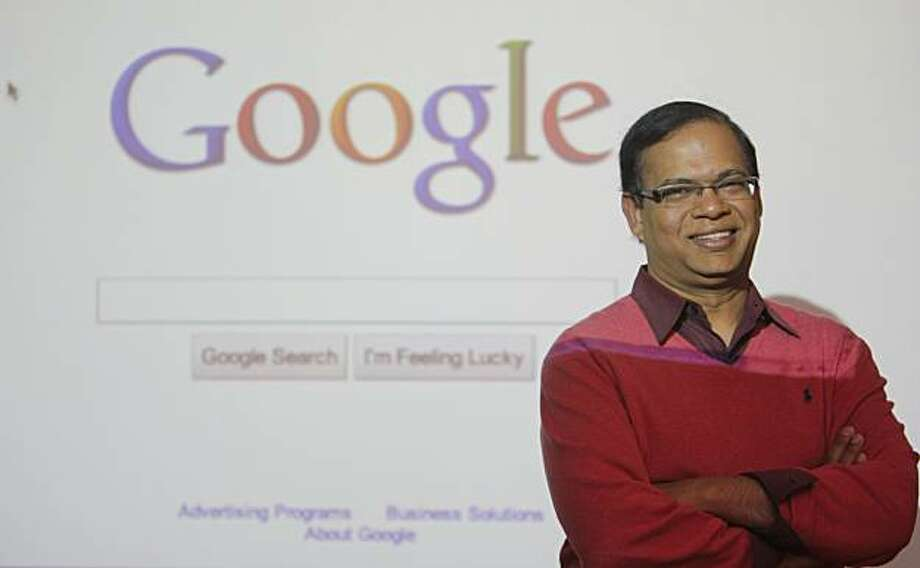 Amit Singhal poses for a photo on the Google campus in Mountain View Calif. on Wednesday, Feb. 9, 2011. Photo: Alex Washburn, The Chronicle