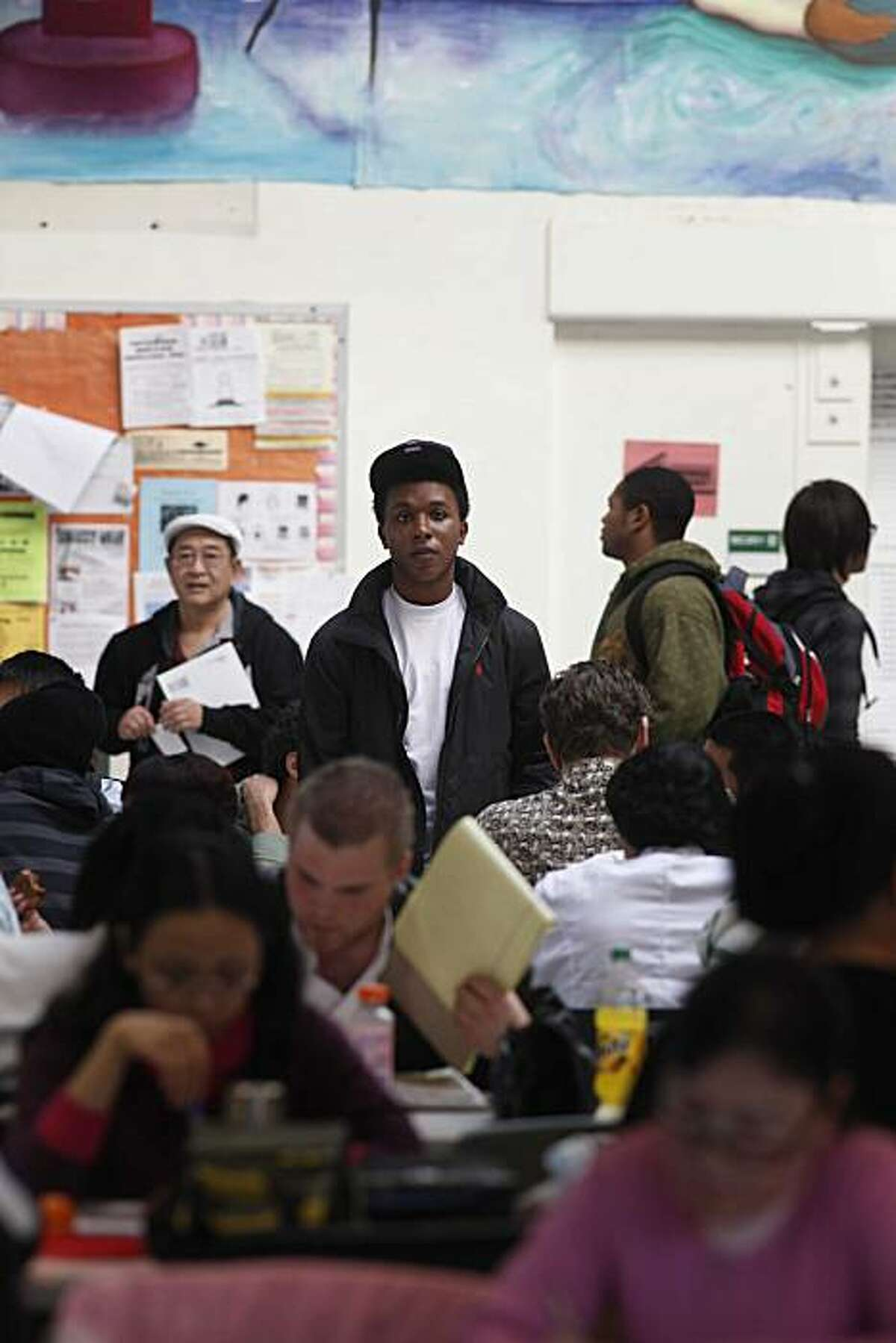 Obe Ugbeyan, 20, stands for a portrait among his generation of students at Laney College on Monday Feb. 7, 2011 in Oakland, Calif. Ugbeyan said,