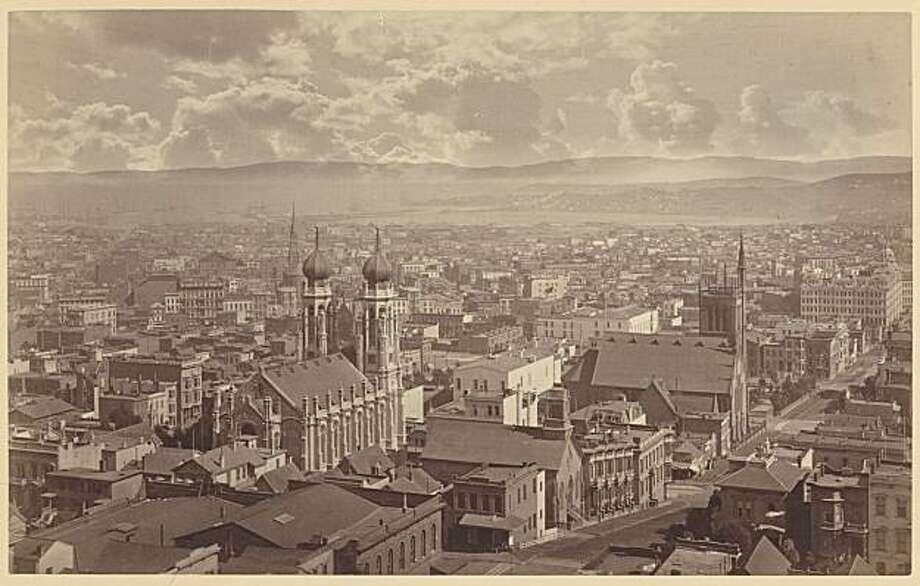 View from Wondows Looking South, 1877, from Muybridge show at SFMOMA Photo: Eadweard Muybridge