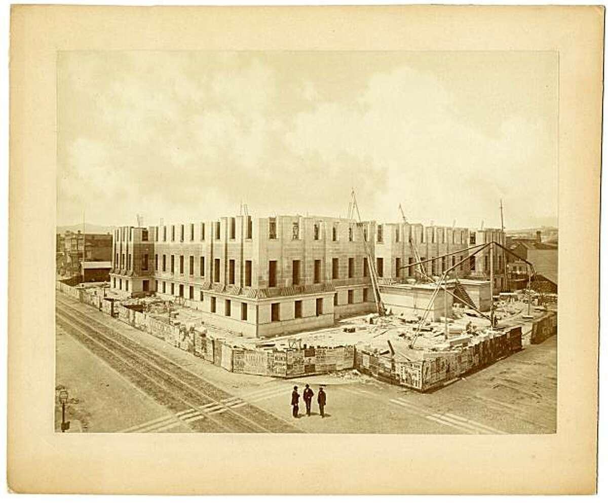 Progress of Construction, U.S. Branch Mint, 1871, from Muybridge show at SFMOMA