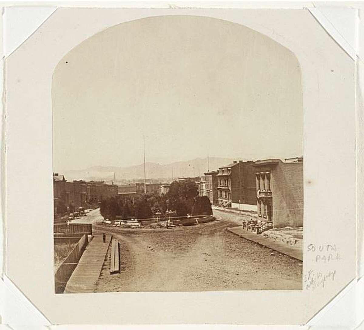 View of South Park, San Francisco, ca. 1873.