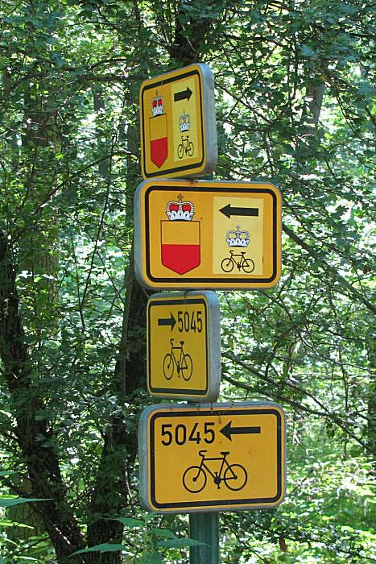The Czech Greenways region, along the border with Austria, has more than 250 miles of well-marked bike routes.