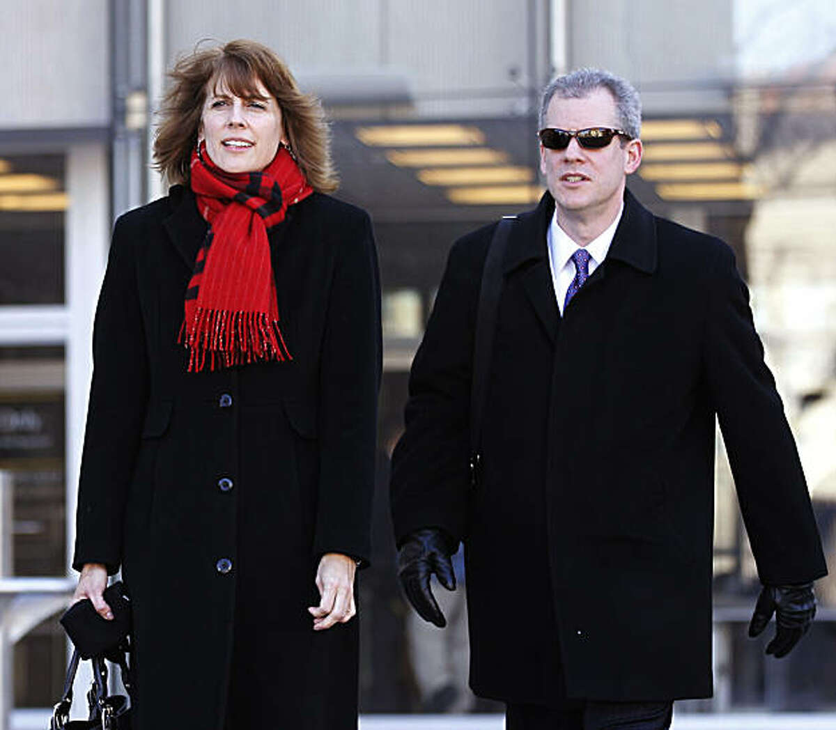 Amanda Haines, left, and Fernando Campo Amor, prosecutors in the murder case of Washington intern Chandra Levy, leave the District of Columbia Superior Court in Washington, Friday, Feb. 11, 2011. Ingmar Guandique, the man convicted of killing Washingtonintern Chandra Levy nearly a decade ago, was sentenced Friday to 60 years in prison.