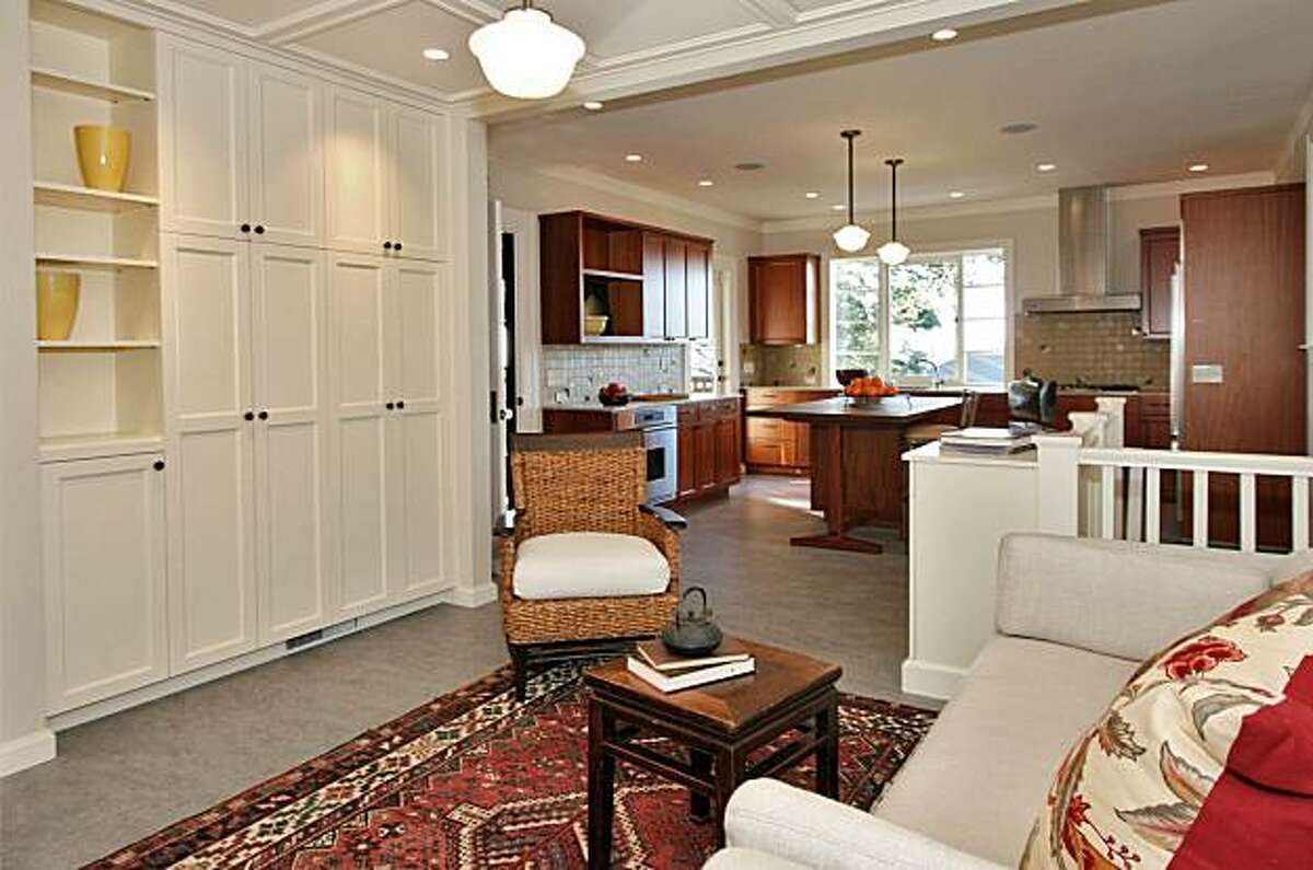 The family room and kitchen of 822 Mendocino for Hot Property.
