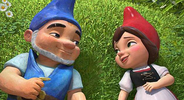 "Gnomeo, left, voiced by James McAvoy and Juliet, voiced by Emily Blunt star in an animated romance, ""Gnomeo & Juliet.""  (Courtesy Miramax Film NY, LLC/MCT) Photo: Handout, MCT"