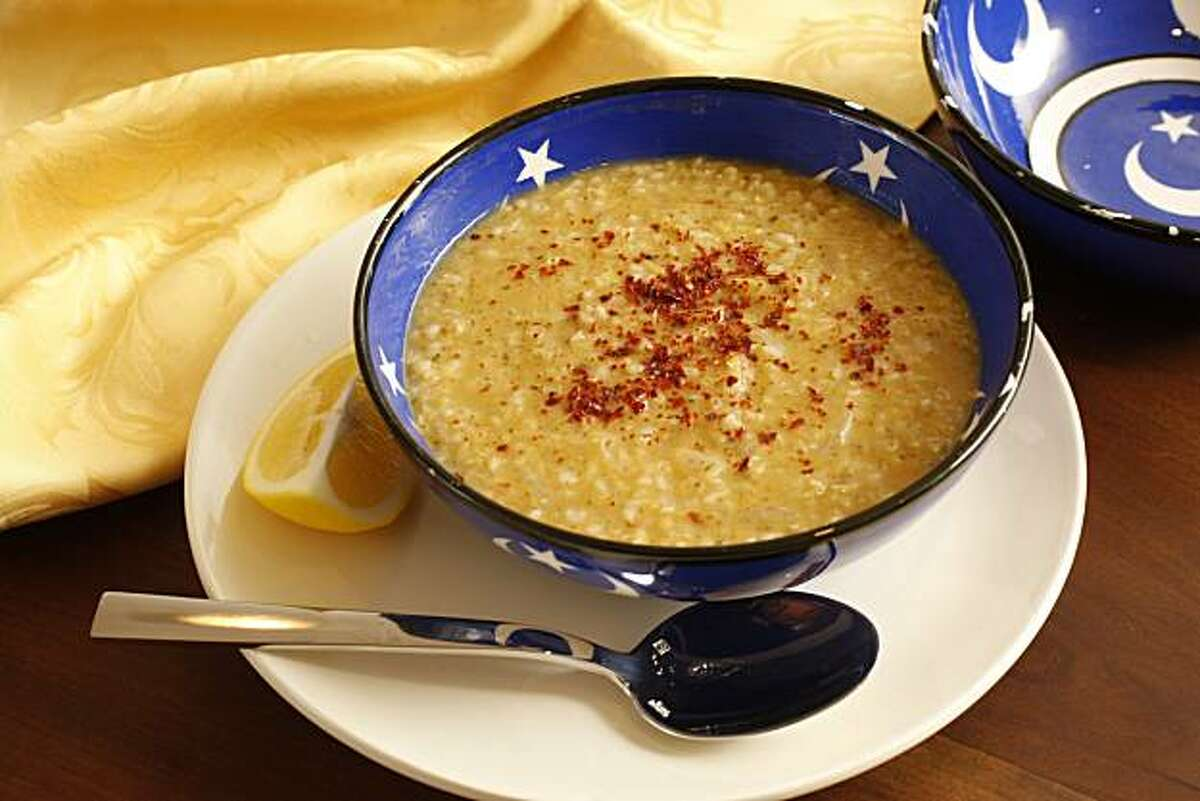 Bulgur and Red Lentil Soup made by Jale Robertson, in Napa, Calif., on December 23, 2008.