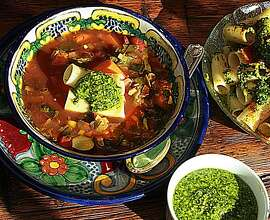 Mexican Minestrone for Jaqueline Higuera McMahan's South to North column.
