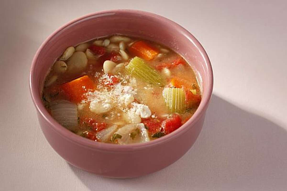Parmesan Rind and Fat White Bean Soup in San Francisco, Calif., on September 8, 2010. Food styled by Sophie Brickman.