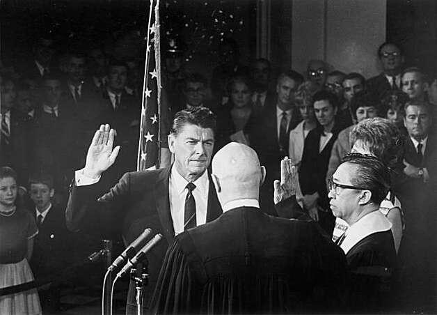 Reagan sworn in as governor