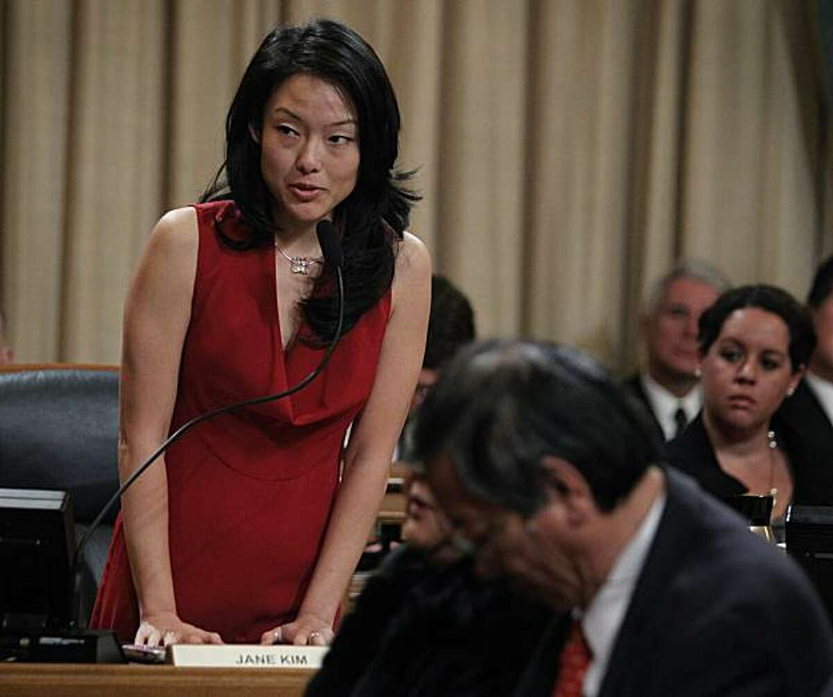 Supervisor Jane Kim attends a Board of Supervisors meeting at City Hall in San Francisco, Calif., on Saturday, Jan. 8, 2011.