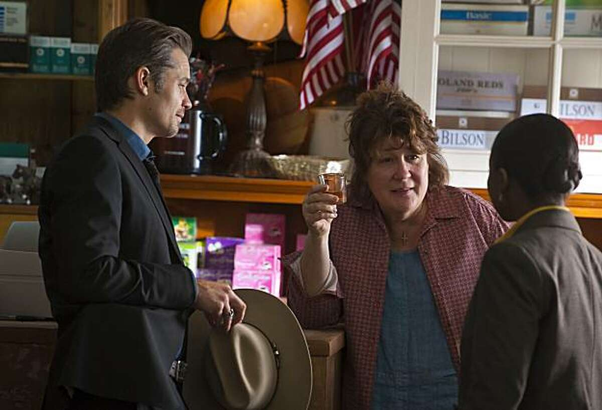 JUSTIFIED: L-R: Timothy Olyphant. Margo Martindale and Erica Tazel in the season premiere of JUSTIFIED airing Wednesday, Feb. 9 (10:00PM ET/PT) on FX.