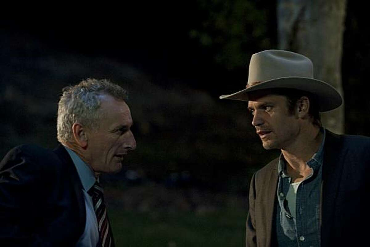 JUSTIFIED: Matt Craven and Timothy Olyphant in JUSTIFIED airing Feb. 9 on FX.