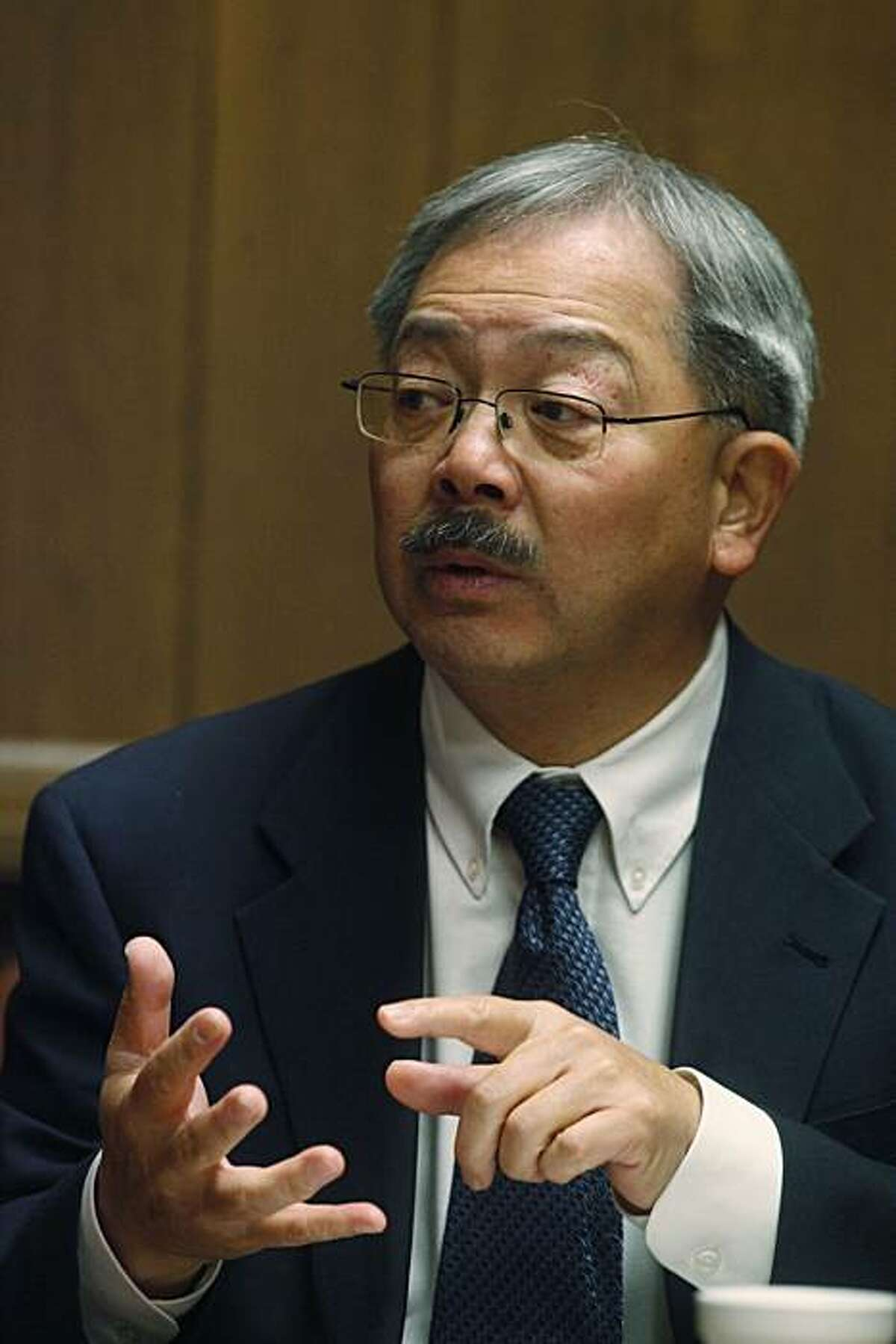 San Francisco Mayor Ed Lee, meets with the San Francisco Chronicle editorial board on Tuesday January. 25, 2011 in San Francisco, Calif.