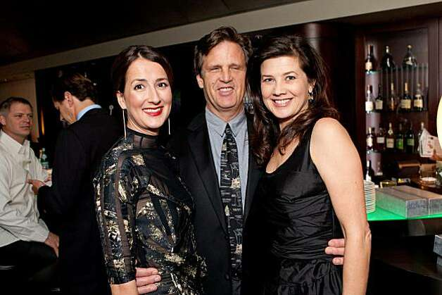 Anna Getty (left) with David Mleczko and actress Daphne Zuniga at Gorgeous & Green in December. Photo: Drew Altizer, Drew Altizer Photography