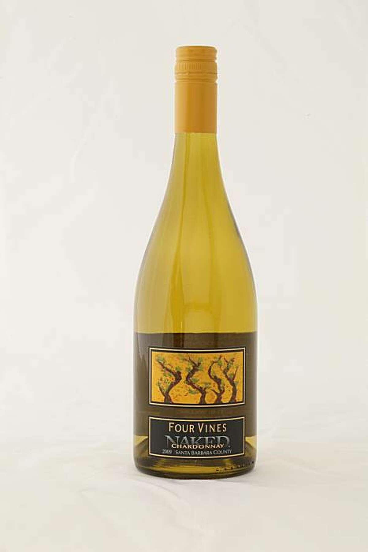 2009 Four Vines Naked Chardonnay Santa Barbara County as seen in San Francisco, California, on January 26, 2010.