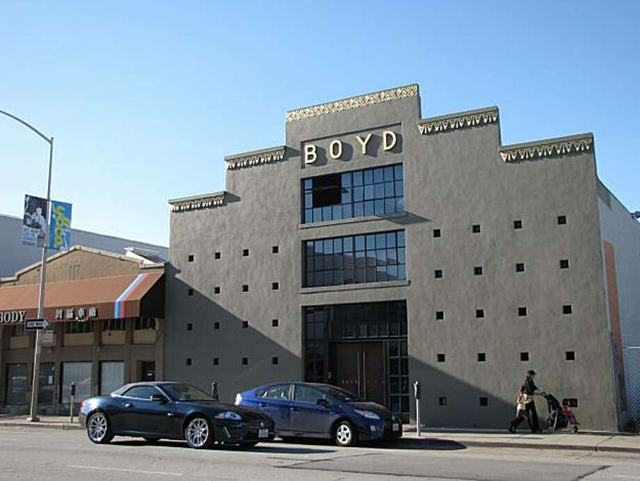 The home of the Boyd lighting manufacturer was like plenty of other SOMA warehouses -- until a mid-1990s transformation that added hints of postmodern intrigue that play off the surrounding landscape. Photo: John King