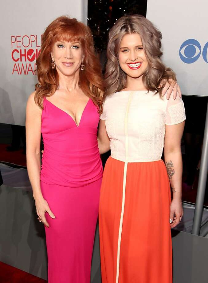 Television personalities Kathy Griffin and Kelly Osbourne arrive at the 2012 People's Choice Awards at Nokia Theatre L.A. Live on January 11, 2012 in Los Angeles, California.  Photo: Christopher Polk, Getty Images For PCA
