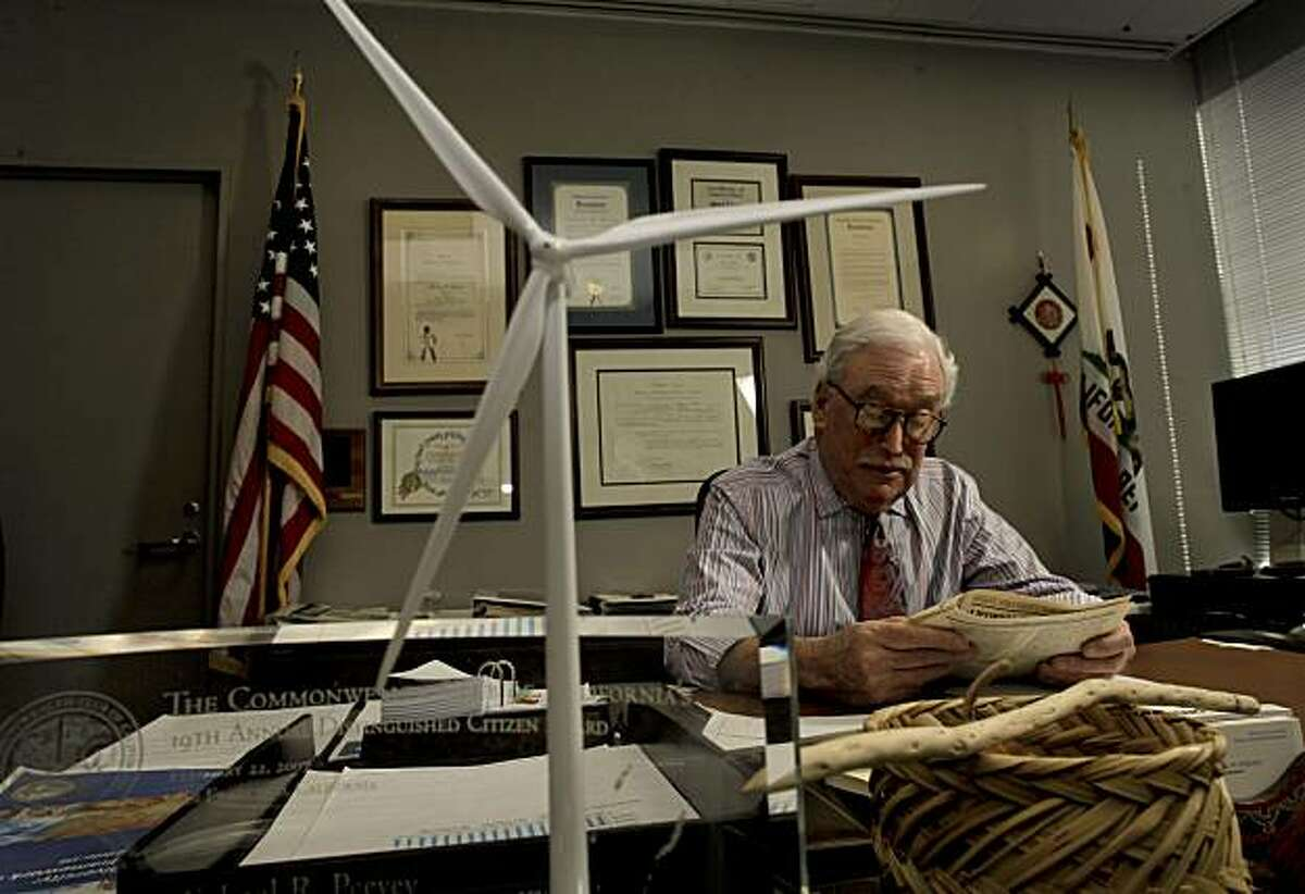 California Public Utilities Commission president, Michael Peevey, at his San Francisco, Ca. office on Tuesday Jan, 25, 2011.