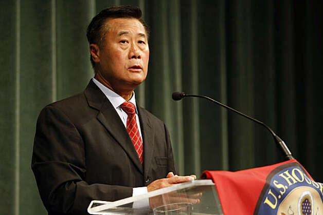 Senator Leland Yee commits himself to helping the under insured during a town hall meeting at Church of the Highlands, September. 13, 2010, in San Bruno, Calif.  Days after the explosion San Bruno's Crestmoor neighborhood sits in ruins as officials try to piece together the investigation into the cause. Photo: Adm Golub, The Chronicle