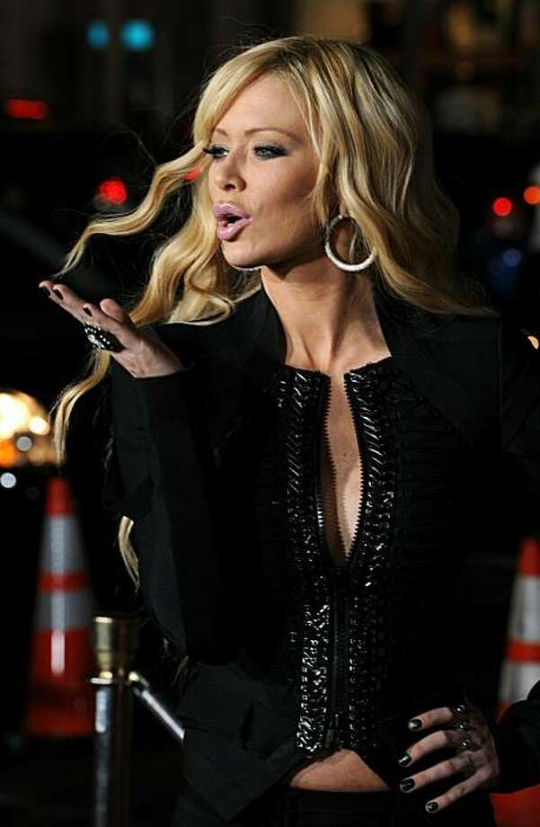 """Porn starlet Jenna Jameson endorsed Romney, saying: """"When you're rich, you want a republican in office."""" Not everyone thinks she's serious. And as someone quipped: """"Romney finally gets a supporter who changes positions as often as he does."""" Photo: Frazer Harrison, Getty Images"""