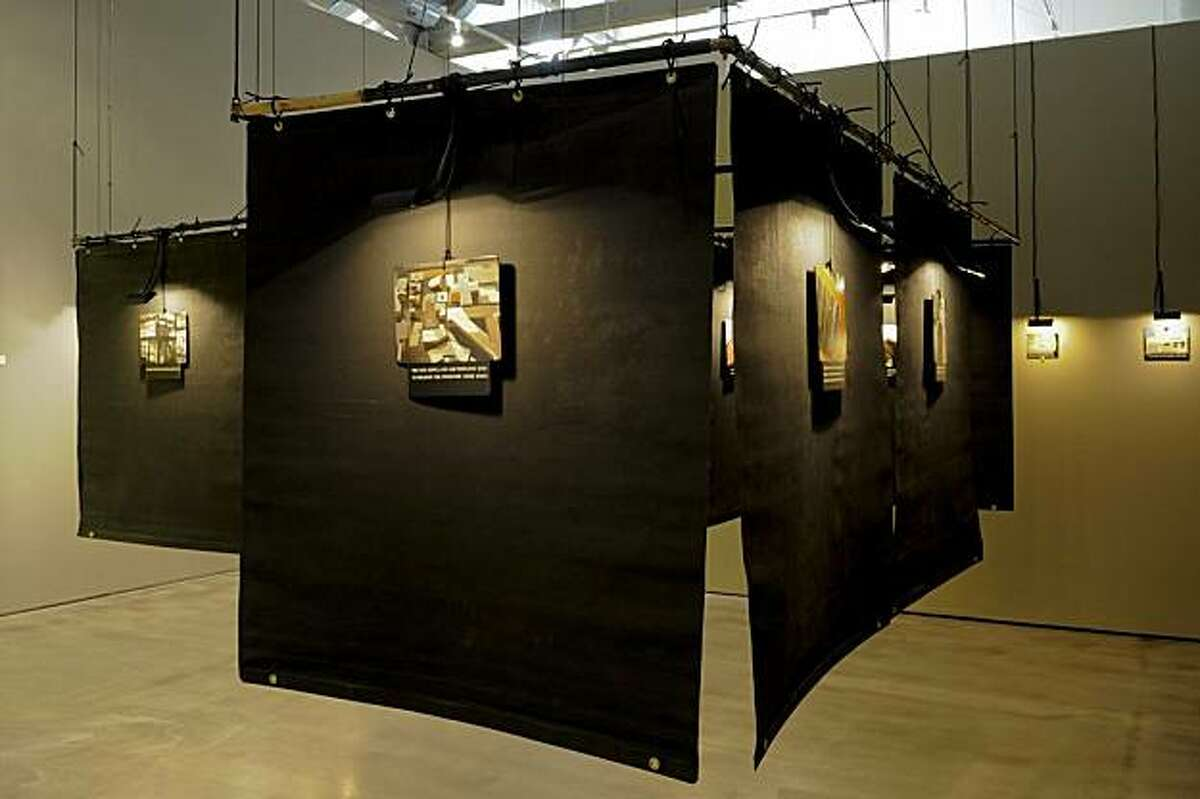 Installation of acrylic on panel