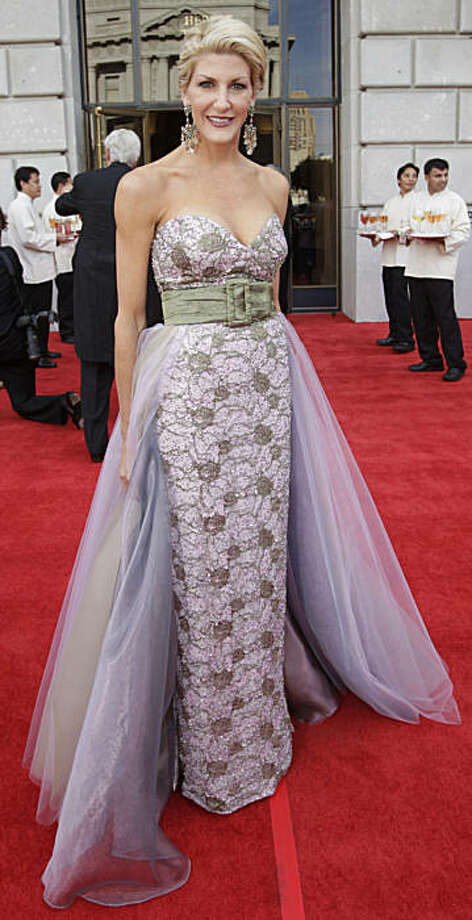 Karen Caldwell wears a dress designed by Lily Samii as she attends the Opera Gala at the opening night of the San Francisco Opera at the War Memorial Building on September 11, 2009 in San Francisco, Calif.  Photograph by David Paul Morris / Special to the Chronicle Photo: David Paul Morris, The Chronicle