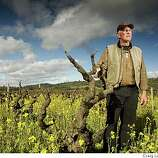 Best Winery in the Bay?Photo of Fred Peterson, owner of Peterson Winery. He has been making wine and farming grapes in Dry Creek Valley for 25 years.
