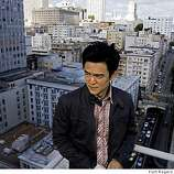 John Cho who is in town for the opening of his new movie Harold and  Kumar showing at the Asian Film Festival. He was photographed on top of the Campton Place Hotel in San Francisco Saturday March 15 2008.