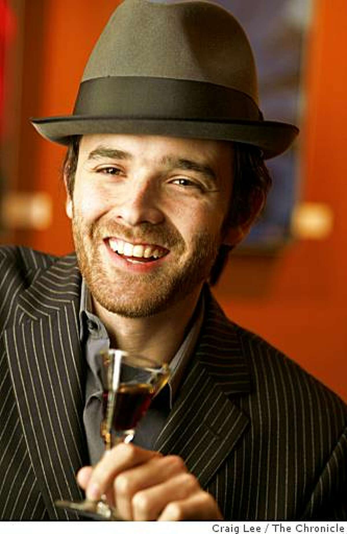 Daniel De Winter, tasting a drink of Fernet-Branca amaro at Catina bar, 580 Sutter street in San Francisco on March 31, 2008.