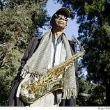 Jazz musician and Mills College professor Roscoe Mitchell and his saxophone in Oakland, Calif. on Wednesday, Feb. 13, 2008.
