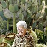 Ruth Bancroft is turning 100 in September photographed in the public  garden in her name with a backdrop of Golden Barrel and Opuntia robusta Cactus on Friday June 27, 2008.