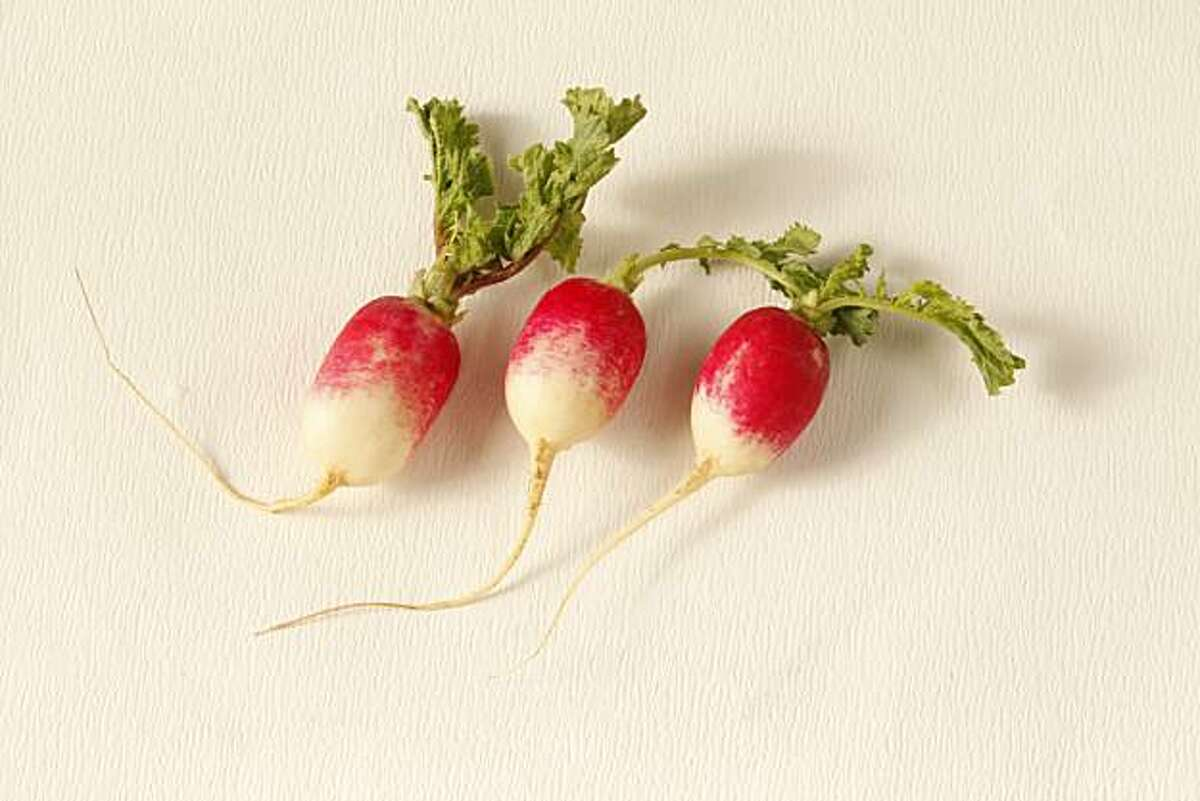 Radishes seen in San Francisco, California, on January 26, 2010. Food styled by Kelly Rae Hickman.