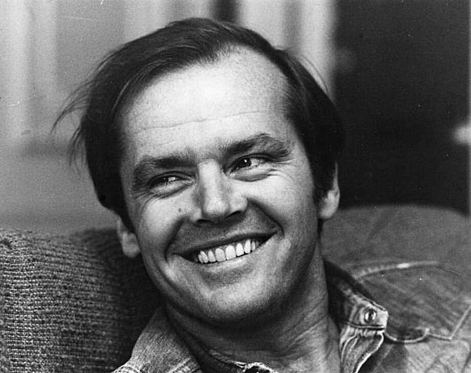 American actor Jack Nicholson smiling at the camera.    (Photo by Roy Jones/Getty Images) Photo: Roy Jones