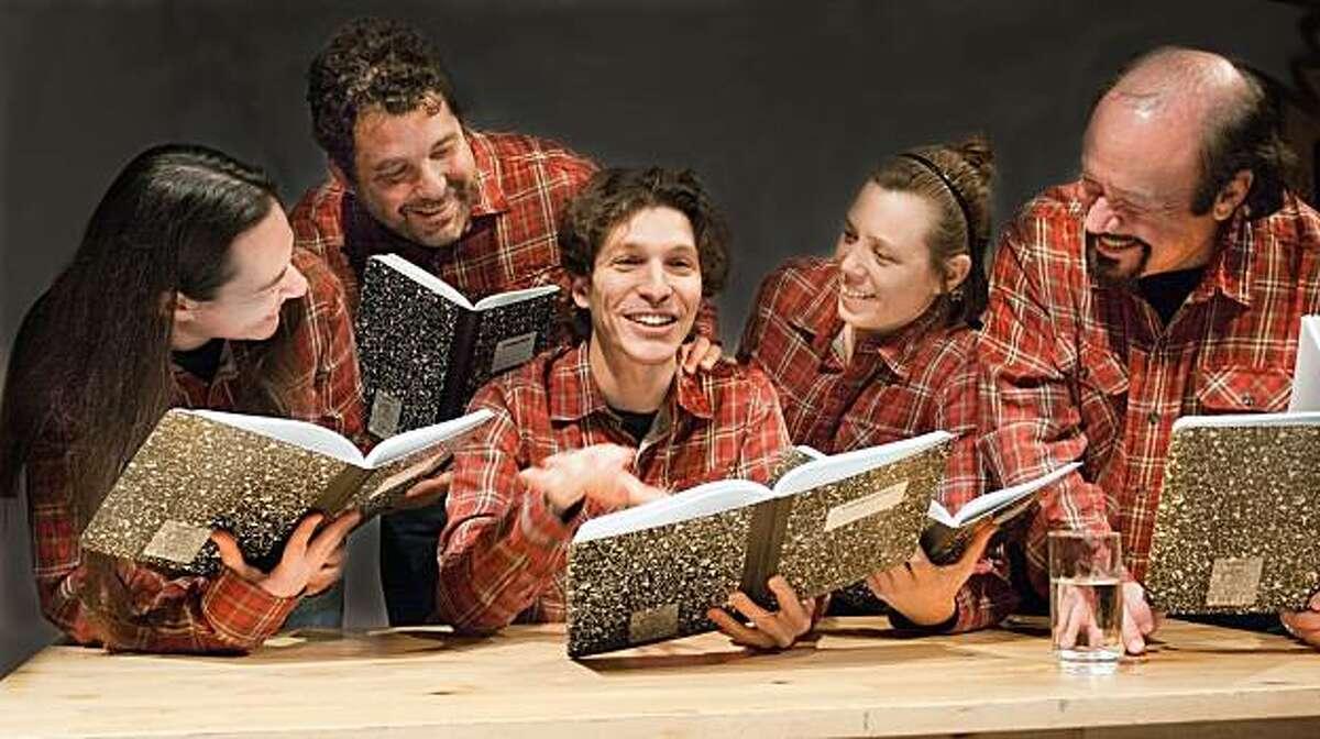 The cast of Custom Made Theatre Company's